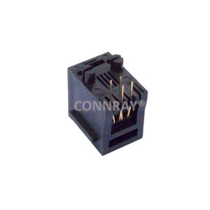 Female RJ11 Connector 4P4C Top Entry With Panel Stop