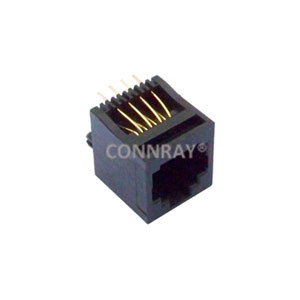 RJ45 Vertical Mount 8P8C Modular Jack Connector
