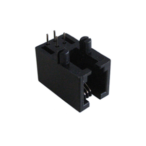 Side Entry PCB Mount Female RJ11 4P4C Connector