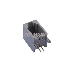 Side Entry(Right Angle) RJ11 4P4C PCB Modular Jack