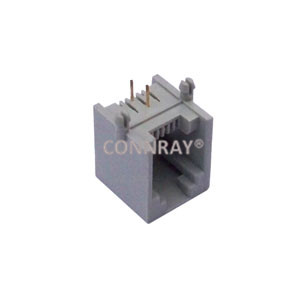 Modular Jack RJ11 Side Entry Single Port Unshielded 6P2C