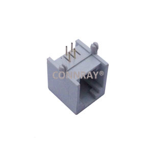 Right Angle Thru Hole Unshielded 6P4C RJ11 Jack