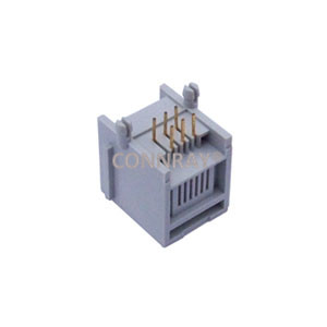 Side Entry 6P6C RJ11 Modular Jack with Panel Stop