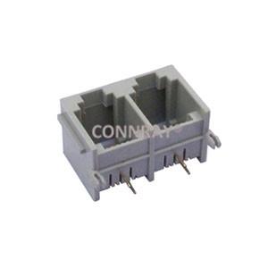 Multi ports 1X2 6P2C RJ11 PCB Mount Modular Jack