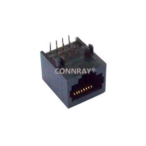 Side Entry Single Port Unshielded RJ45 Modular Jack