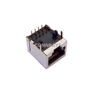 Side Entry Single Port 10P8C Shielded RJ45 Jack