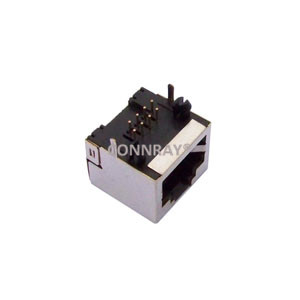 Right Angle Shielded 8P8C RJ45 PCB Female Jack