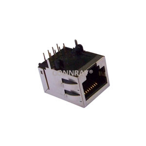 R/A Shielded RJ45 Female Connector