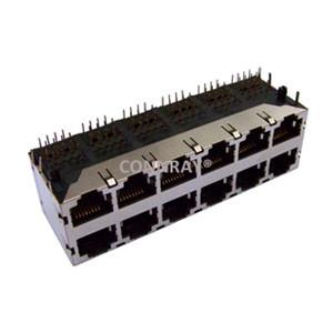 Multiport 2X6 12 Ports RJ45 PCB Modular Jack