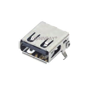 Right Angle 4Pins USB 2.0 A Female Connector