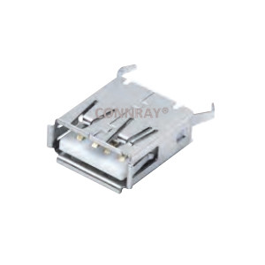 Vertical Mount 4 Position USB 2.0 A Type Female Connector