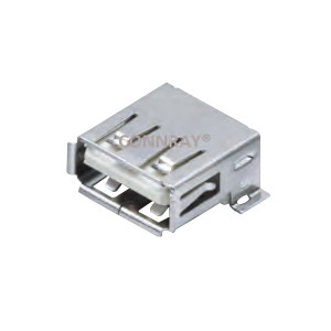 SMT USB 2.0 Jack Connector Right Angle 4 Position