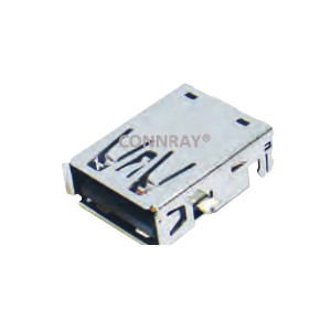 4P USB TYPE A 2.0 Female Connector Sink Type