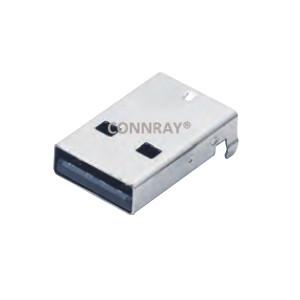 USB 2.0 Type A R/A SMT Male Plug 4Position