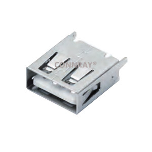 USB 2.0 Type A Female Receptacle 4P Vertical Mount