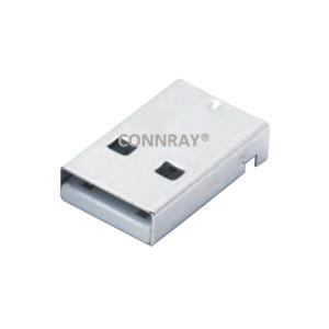 USB 2.0 AM Right Angle 4P Surface Mount Male Plug