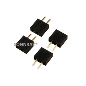 Top Entry Straight Female Header Connector Pitch 2.54mm 2PIN