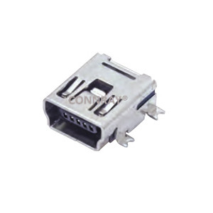 Mini USB 2.0 B Type Female Conn SMT 5PIN