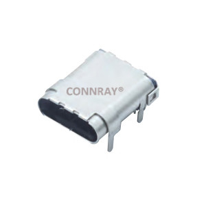 USB 3.1 Type C Female Conn R/A 24P Top Mount