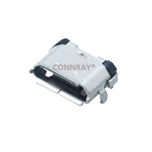 Micro USB 2.0 B Type Female Conn SMT 5P Reverse Type