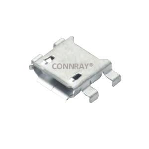 Mid Bottom Mount Micro USB 2.0 Jack 5PINS SMT