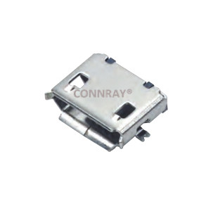 Micro USB Jack SMT Type Bottom Mount