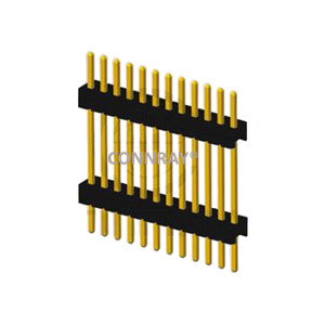 Vertical Mount Single Row Pitch 1.27mm PIN Header with Board Spacer