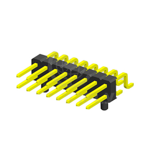2.54mm 2 Rows PIN Header R/A SMT W/ POST