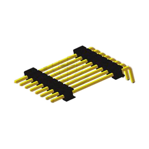 Single Row Right Angle Type Board Spacer Pin Header 2.54mm