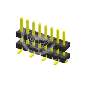 SMT Type Single Row 3.96mm Pitch Stack PIN Header